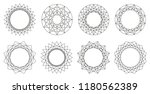 set of round ornaments. border... | Shutterstock .eps vector #1180562389