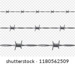 barbed wire  warning and... | Shutterstock .eps vector #1180562509