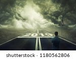 surreal view as a competitive...   Shutterstock . vector #1180562806