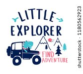 little explorer slogan and... | Shutterstock .eps vector #1180562923