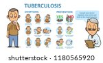 tuberculosis symptoms and... | Shutterstock .eps vector #1180565920