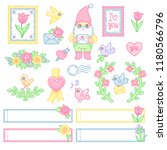 a set of cute decorative... | Shutterstock .eps vector #1180566796