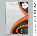 flyer template. design for a... | Shutterstock .eps vector #1180569940