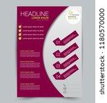 flyer template. design for a... | Shutterstock .eps vector #1180570000
