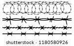 barbwire set isolated... | Shutterstock .eps vector #1180580926