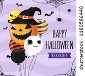 halloween invitation card party ... | Shutterstock .eps vector #1180586440