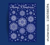 christmas card with mandala... | Shutterstock .eps vector #1180588396