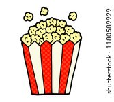 cartoon doodle cinema popcorn | Shutterstock . vector #1180589929
