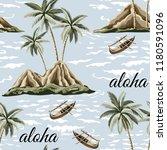 hawaiian vintage island  palm... | Shutterstock .eps vector #1180591096