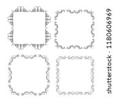 set of vector vintage frames on ... | Shutterstock .eps vector #1180606969