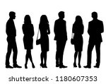 vector silhouettes men and... | Shutterstock .eps vector #1180607353