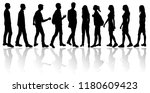 vector silhouettes men and... | Shutterstock .eps vector #1180609423