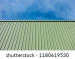 green metal sheet siding of...   Shutterstock . vector #1180619530