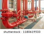 pipeline and valve of water...   Shutterstock . vector #1180619533