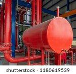 diesel generator for fire pump...   Shutterstock . vector #1180619539