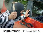 robber and the car thief in a...   Shutterstock . vector #1180621816
