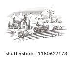 Farming Landscape Engraving...