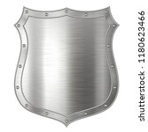 realistic metal shield  weapon... | Shutterstock .eps vector #1180623466