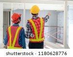 engineer working at...   Shutterstock . vector #1180628776