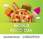 world food day food day... | Shutterstock .eps vector #1180629523