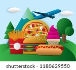 world food day food day... | Shutterstock .eps vector #1180629550
