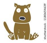 cartoon doodle calm dog | Shutterstock . vector #1180654639