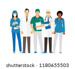 doctors and assistant in a... | Shutterstock . vector #1180655503