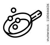 prepare food on griddle icon.... | Shutterstock .eps vector #1180666636