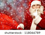 portrait of santa claus with... | Shutterstock . vector #118066789