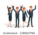 happy business people... | Shutterstock .eps vector #1180667986