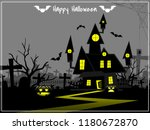 halloween creepy forest with... | Shutterstock .eps vector #1180672870