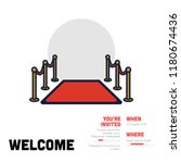 welcome event invitation with... | Shutterstock .eps vector #1180674436
