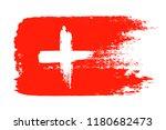 switzerland grunge flag  brush... | Shutterstock .eps vector #1180682473