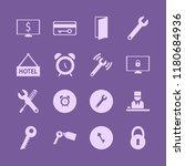 key icon. key vector icons set... | Shutterstock .eps vector #1180684936