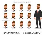 set of lip sync collection for... | Shutterstock .eps vector #1180690399