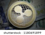 ripple xrp cryptocurrency on... | Shutterstock . vector #1180691899