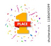 first place champion  first... | Shutterstock .eps vector #1180693399
