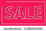 sale realistic sign... | Shutterstock .eps vector #1180694500
