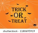 trick or treat halloween banner ... | Shutterstock .eps vector #1180695919