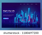 night city illustration.... | Shutterstock .eps vector #1180697200