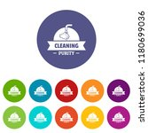 cleaning purity icons color set ... | Shutterstock .eps vector #1180699036