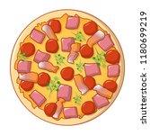 pizza margarita icon. cartoon... | Shutterstock .eps vector #1180699219