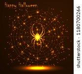 happy halloween. gold polygonal ... | Shutterstock .eps vector #1180700266