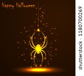 happy halloween. gold polygonal ... | Shutterstock .eps vector #1180700269