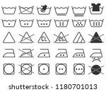 black monochrome simple laundry ... | Shutterstock .eps vector #1180701013