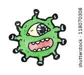 cartoon alien monster | Shutterstock .eps vector #118070308
