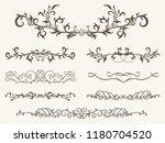 vector set of decorative... | Shutterstock .eps vector #1180704520