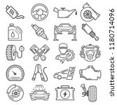car service and repair icons... | Shutterstock .eps vector #1180714096