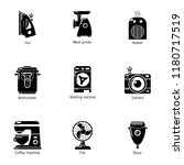 domestic tech icons set. simple ... | Shutterstock .eps vector #1180717519