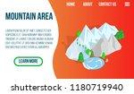 mountain area concept banner.... | Shutterstock .eps vector #1180719940